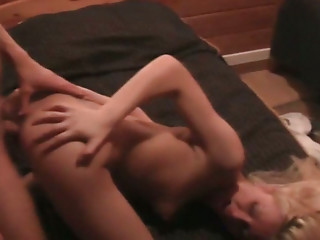 Kinky lover pounds gaping pussy of his Russian mistress