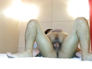 Asian Teen Rides My Cock