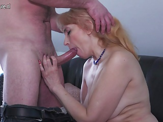 Horny real mom fucking younger lover