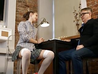 STP3 Tutor Gives Skinny Schoolgirl A Nice Deep Creampie !