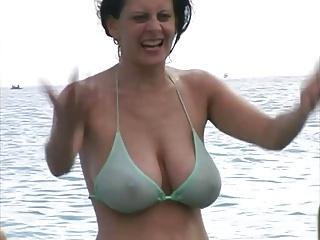 Hot Milf in Bikini at The Beach