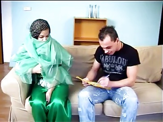 ARAB Muslim HIJAB Girl BLOWJOB FUCK 5 - NV