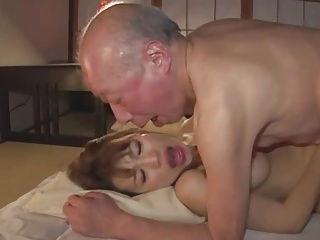 Old man and Beautiful Japanese Young Wife