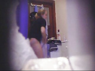 hidden cam,  spycam,  spying,  bathroom,  teen,  tits,  voyuer