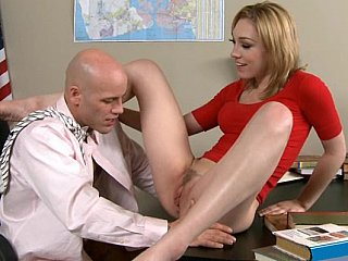 Lily acquires drilled on her teacher's desk