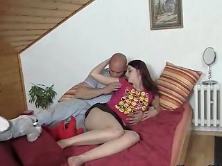 Punishing anal sex with her boyfriend