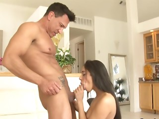 Sexy Gia Steel loves sucking cocks