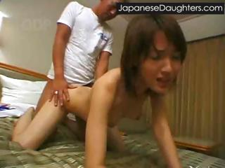 Daddy violates younger japanese teenie