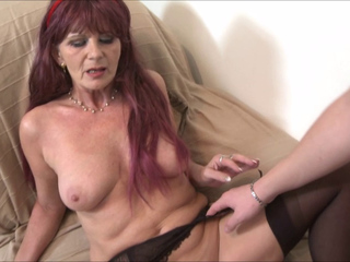 Mature lady fucked by a young lover
