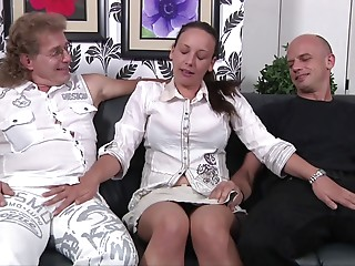 Collection of old babes gratifying much younger dudes