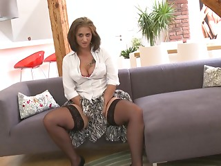 Horny older cheating housewife fucking her younger lover