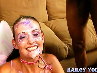 A wicked young slut acquires banged and cumsprayed