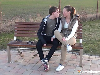 Sex with his leggy teenie girlfriend is the hottest thing ever