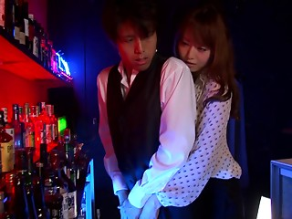 Seductive Japanese legal age teenager with lengthy hair giving a sexual orall-service