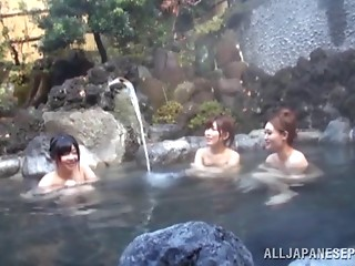 Sizzling Japanese young slut with large glamorous love bubbles touching her hawt body