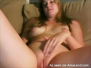 Naughty Teen Plays With Her Pink Shaved Pussy