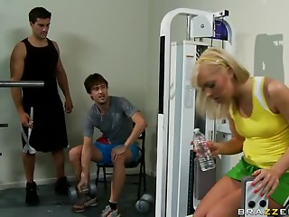 Golden-haired Teenie Friend Kay Fucking Her Brother's Gym Instructor