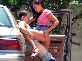 Lustful Pair Receives Off The Car To Screw