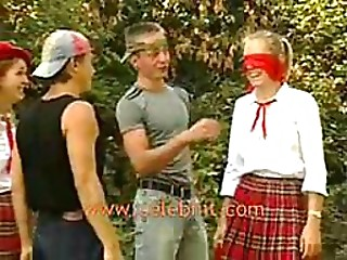 Wicked Nubiles Receive Drilled and Facialized In an Outdoor Bang Party