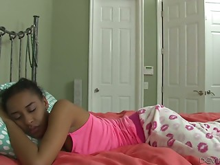 Sleeping ebon sweetheart Jazzy Jamison acquires screwed